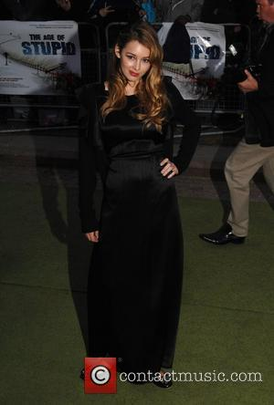 Keeley Hazell 'The Age of Stupid' UK film premiere held at Leicester Square gardens in a solar powered tent -...