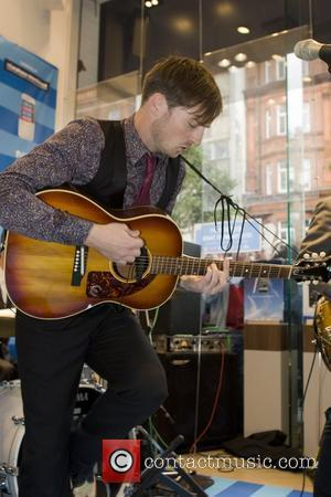 Dan Gillespie Sells  of The Feeling performing live at the Carphone Warehouse London, England - 18.10.08
