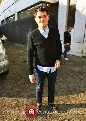 Mathew Horne from the BBC series Gavin and Stacey leaving the ITV studios on the South Bank after appearing on...