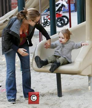 Jennifer Meyer and Ruby Tobey Maguire and pregnant wife Jennifer Meyer take their daughter Ruby to Beverly Hills Park. Los...