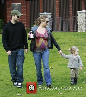 Tobey Maguire and Pregnant Wife Jennifer Meyer Take Their Daughter Ruby To Beverly Hills Park.