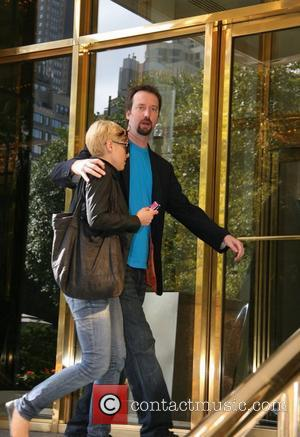 Tom Green and his assistant Emma arrive at their Manhattan Hotel New York City, USA - 14.10.08
