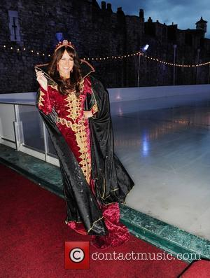 Linda Lusardi Gala opening of the Tower Of London Ice Rink in aid of Rays of Sunshine Children's Charity at...