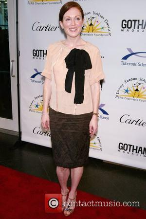 Julianne Moore wearing Prada Tuberous Sclerosis Alliance 35th Anniversary held at Pier Sixty at Chelsea Piers - Arrivals New York...