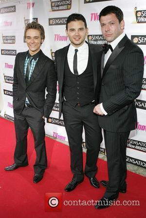 Jack P. Shepherd, Ryan Thomas and Gray O'Brien The Sensations TV Now Awards 2009 held at The Mansion House -...