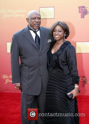 Louis Gossett Jr. and Colette Phillips Tyler Perry unveils his new motion picture and television studio in Atlanta Atlanta, Georgia...