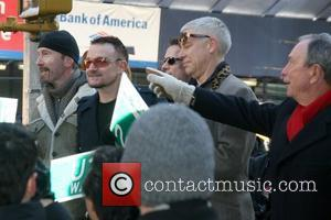 Bono, Cbs, David Letterman, The Edge and U2