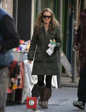 Becki Newton on the set of 'Ugly Betty'  New York City, USA - 30.10.08