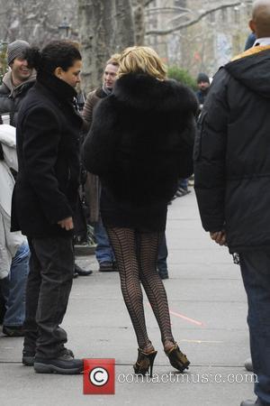 Becki Newton on the set of 'Ugly Betty'  New York City, USA - 04.12.08