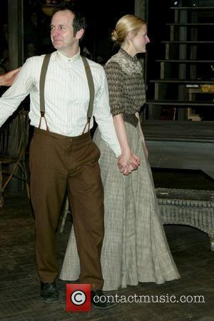 Denis O'Hare and Mamie Gummer opening night curtain call for 'Uncle Vanya' at the Classic Stage Company New York City,...