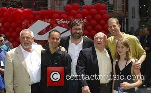 Ed Asner, John Ratzenberg, Peter Docter and Elizabeth Docter