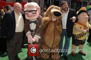 Ed Asner, Carl Fredricksen, Dug, Bob Perterson and Russell