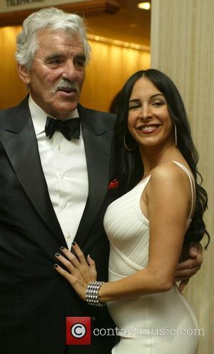 Dennis Farina and Mayra Veronica