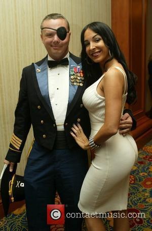 Mayra Veronica (r) and guest 67th annual USO World Gala honoring military heroes and outstanding volunteers Washington DC, USA -...
