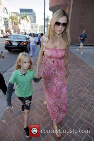 Vanessa Angel seen walking in Beverly Hills with her son Beverly Hills, California - 06.10.08