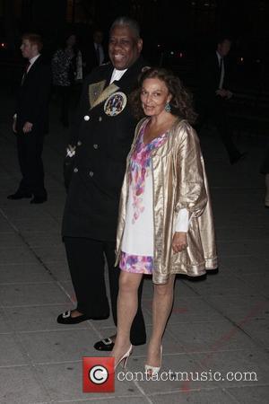 Andre Leon Talley and Diane Von Furstenberg
