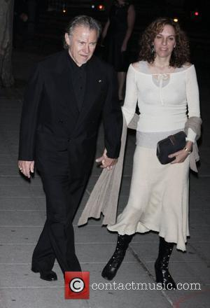 Harvey Keitel and Daphna Kastner Vanity Fair party for the 2009 Tribeca Film Festival at the State Supreme Courthouse -...