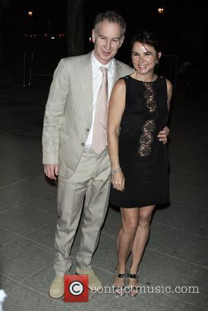 John McEnroe and Patty Smyth Vanity Fair party for the 2009 Tribeca Film Festival at the State Supreme Courthouse -...