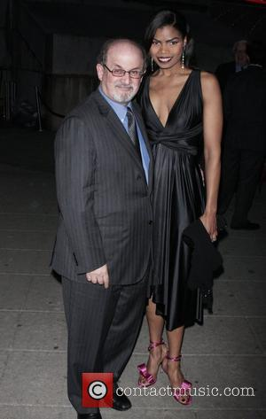 Salman Rushdie and Pia Glenn Vanity Fair party for the 2009 Tribeca Film Festival at the State Supreme Courthouse -...