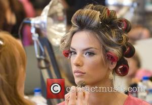 Alessandra Ambrosio Victoria Secret Fashion Show Backstage Hair and Makeup at the Fountainebleau Miami Beach, Florida - 15.11.08