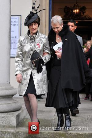 June Brown and Guest The Funeral of Wendy Richard held at St Mary's Church Marylebone London, England - 09.03.09