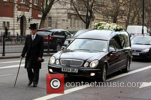 Wendy Richard funeral procession The Funeral of Wendy Richard held at St Mary's Church Marylebone London, England - 09.03.09