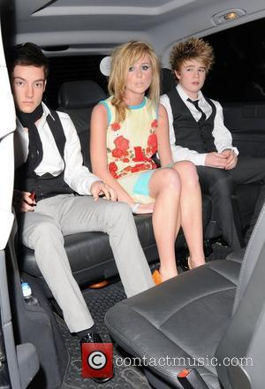 Diana Vickers, Austin Drage and Eoghan Quigg outside the X Factor House. London, England - 30.10.08