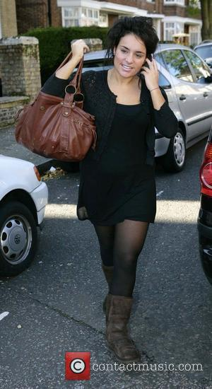 Laura White arriving back at the 'X Factor' house London, England - 22.10.08