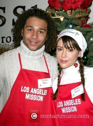 Alyssa Milano and Corbin Bleu