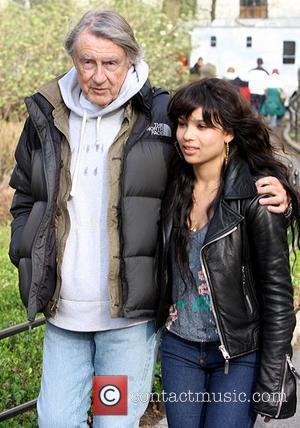 Joel Schumacher and Zoe Kravitz seen filming on location of the new movie 'Twelve' in Central Park.  New York...