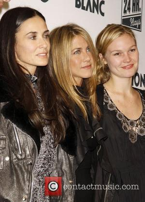 Ashton Kutcher, Demi Moore and Jennifer Aniston