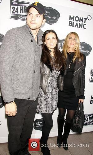 Jennifer Aniston, Ashton Kutcher and Demi Moore