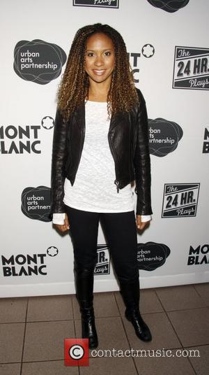 Tracie Thoms arrive to the 9th Annual 24 Hour Plays on Broadway afterparty at The Opera Ballroom at Crest...