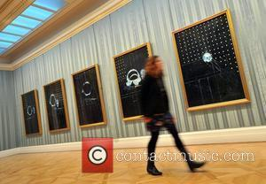 No Love Lost: Blue Paintings By Damien Hirst - press view held at The Wallace Collection in Hertford House. London,...