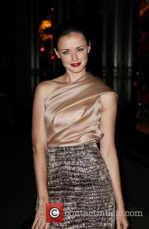 Alexis Bledel Party to celebrate Saks Fifth Avenue launching its new designer floor - arrivals New York City, USA -...