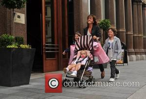 Sheree Murphy shopping with her children Liverpool, England - 12.08.09