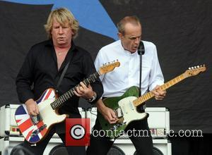 Francis Rossi and Rick Parfitt of Status Quo performing at the 2009 Glastonbury Festival - Day 3 Somerset, England -...