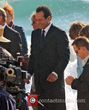 Tony Shalhoub filming a wedding scene on Malibu beach for his TV show Monk Malibu, California - 15.09.09