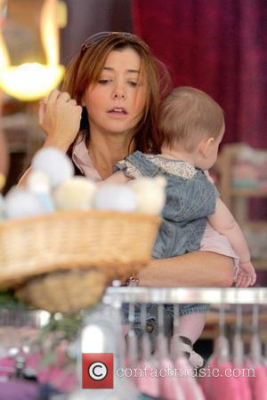 Alyson Hannigan and Daughter Satyana Denisof