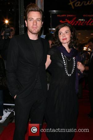 Ewan McGregor, Eve Mavrakis World premiere of 'Amelia' presented by Bloomingdale's & Vanity Fair, held at Paris theatre New York...