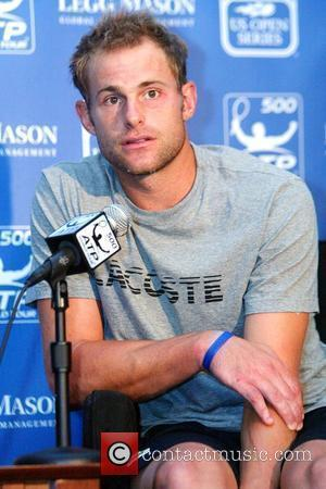 Andy Roddick held a press conference for the Legg Mason Tennis Tournament at Fitzgerald Tennis Center Washington, DC - 03.08.09