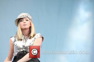 Katie White of The Ting Tings performing Isle of Wight Music Festival 2009 - Day 1 Isle of Wight, England...