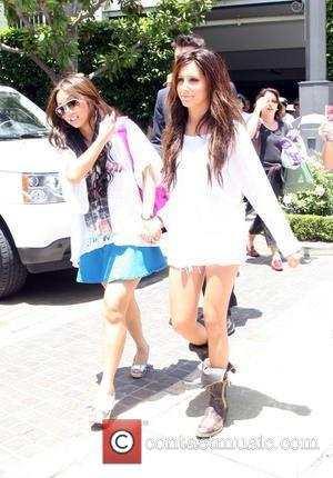 Ashley Tisdale and Brenda Song leave The Grove after giving a performance there Los Angeles, California - 27.06.09