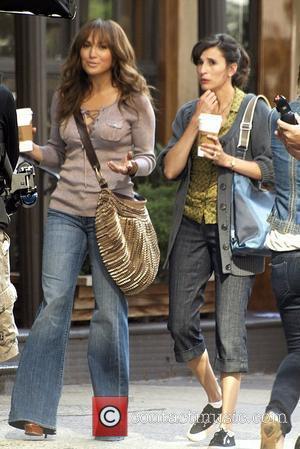 Jennifer Lopez and Michaela Watkins