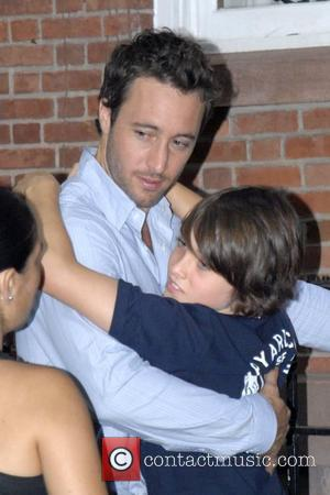 Alex O'Loughlin on the set of his new movie 'The Back-Up Plan' New York City, USA - 20.07.09