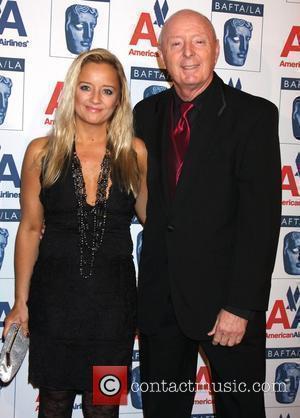 Lucy Davis and Father Jasper Carrott