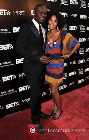 Jimmy Jean-Louis and wife The BET awards pre-show dinner held at the Jewel Box - Arrivals Los Angeles, California -...