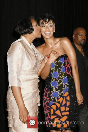 Keri Hilson and her mother 2009 BET Awards held at the Shrine Auditorium - Press Room Los Angeles, California -...