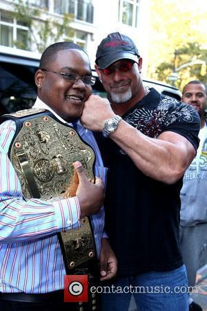 Bill Goldberg poses with fans outside his hotel New York City, USA - 20.10.09