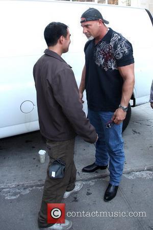 Bill Goldberg intimidates a fan outside his hotel New York City, USA - 20.10.09